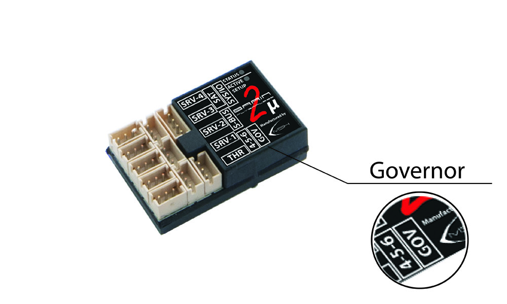 Brain2 Micro with Governor connector