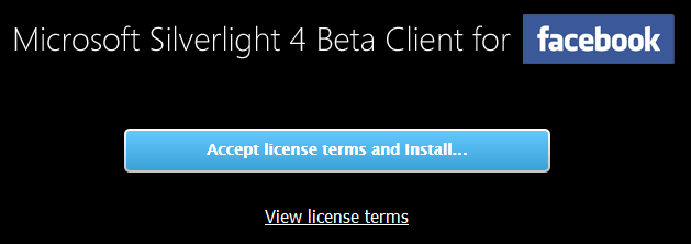 Silverlight Client for Facebook Install Instructions