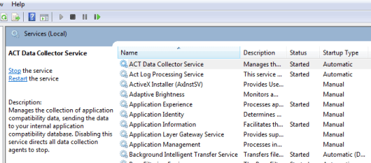 ACT Data Collector Service - Started