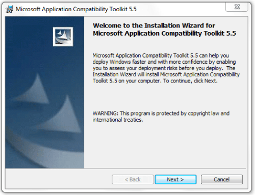 Application Compatibility Toolkit - Installation
