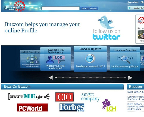 New Buzzom Home Page