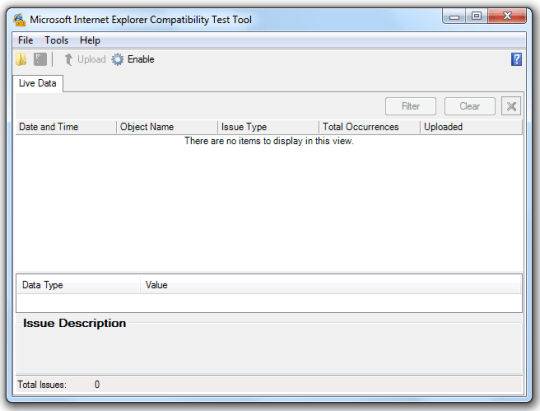 Internet Explorer Compatibility Test Tool