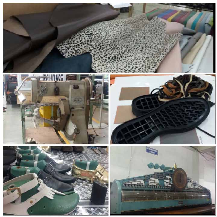 (clockwise) A step by step shoe creation in Alberto Torresi factory in Agra