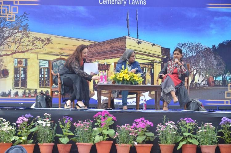 (From L to R) Vandana Shah, Urvashi Butalia and Nandita Das