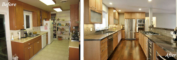 Galley Kitchen Remodel Remove Wall small galley kitchen remodels before and after photos - kitchen design