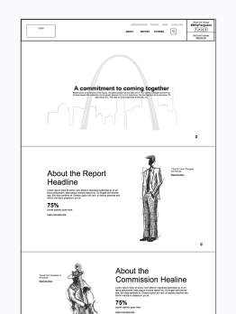 The site's homepage uses stories to capture hearts and facts to support those stories.