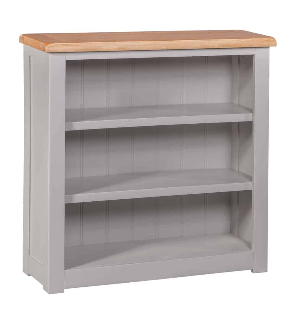Homestyle Gb Diamond Grey Painted Oak Small Low Bookcase