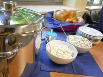Bockwurst und Salat