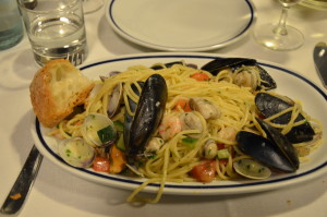 A Fresh Seafood Platter in Venice, Italy
