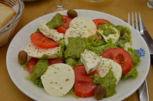 One of the many variations of Caprese Salad