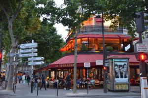 Café in the Seventh Arrondissement,  Paris, France