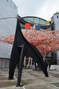 Alexander Calder Sculpture in front of The Museum of Modern and Contemporary Art, Nice, France