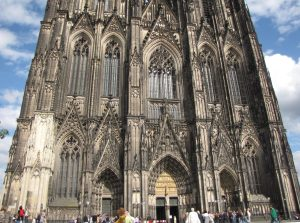 Partial Front View, Cologne Cathedral, Cologne, Germany