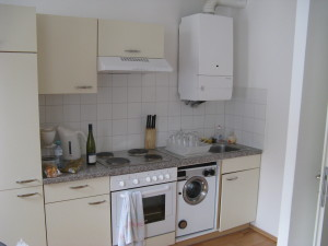 Small Apartment Kitchen - We Found this Apartment Through Airbnb