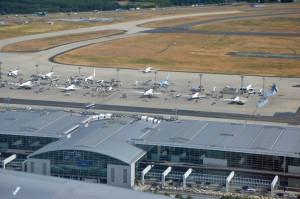 Landing at Frankfurt, Germany Airport