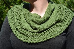 """Bethe"" Shawl made from Gloss Fingering in Clover"