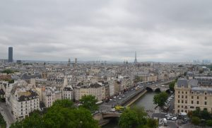 Paris from the Top of Notre Dame Cathedral