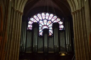 Organ Pipes and Rose Window, Notre Dame Cathedral, Paris