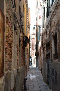 A Very Narrow Street in Venice
