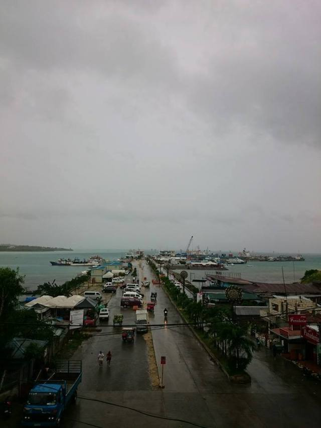 Our view from the Inn after having our trip cancelled due to the typhoon.