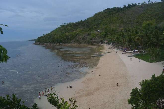 Your view from the entrance. This picture was taken late in the afternoon and it is already low tide.