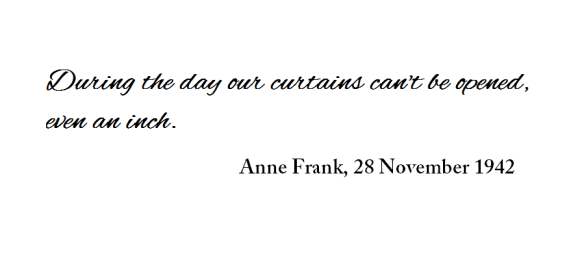 Anne Frank quote hiding