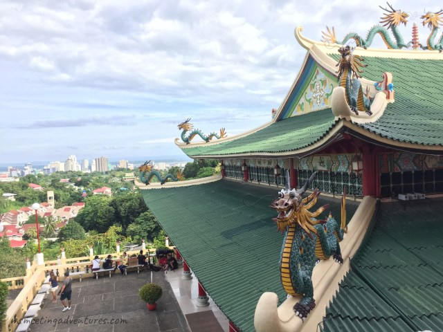 overlooking Taoist temple