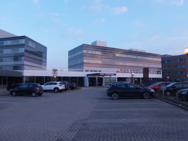 Parking outside Van der Valk Hotel Zaltbommel