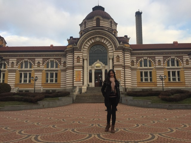 In front of Central Mineral Bath Sofia