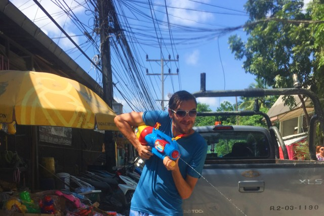waterfight at Songkran