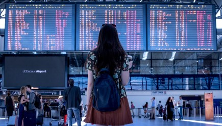 Girl lost in the airport