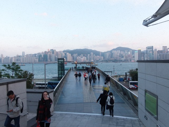 tourists and Victoria Harbour