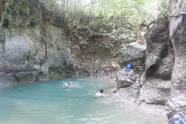 The unfiltered natural cave pool