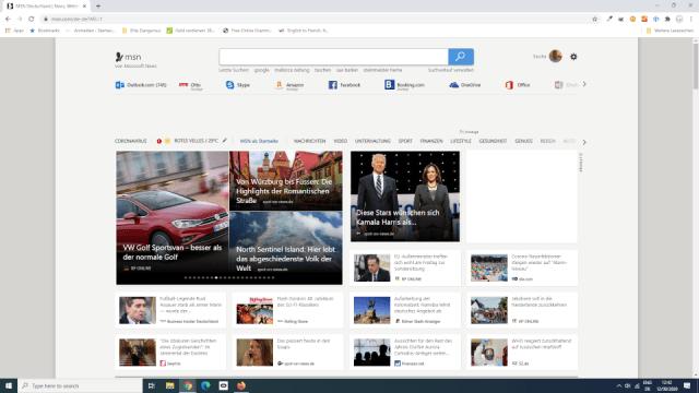 MSN Portal Startseite
