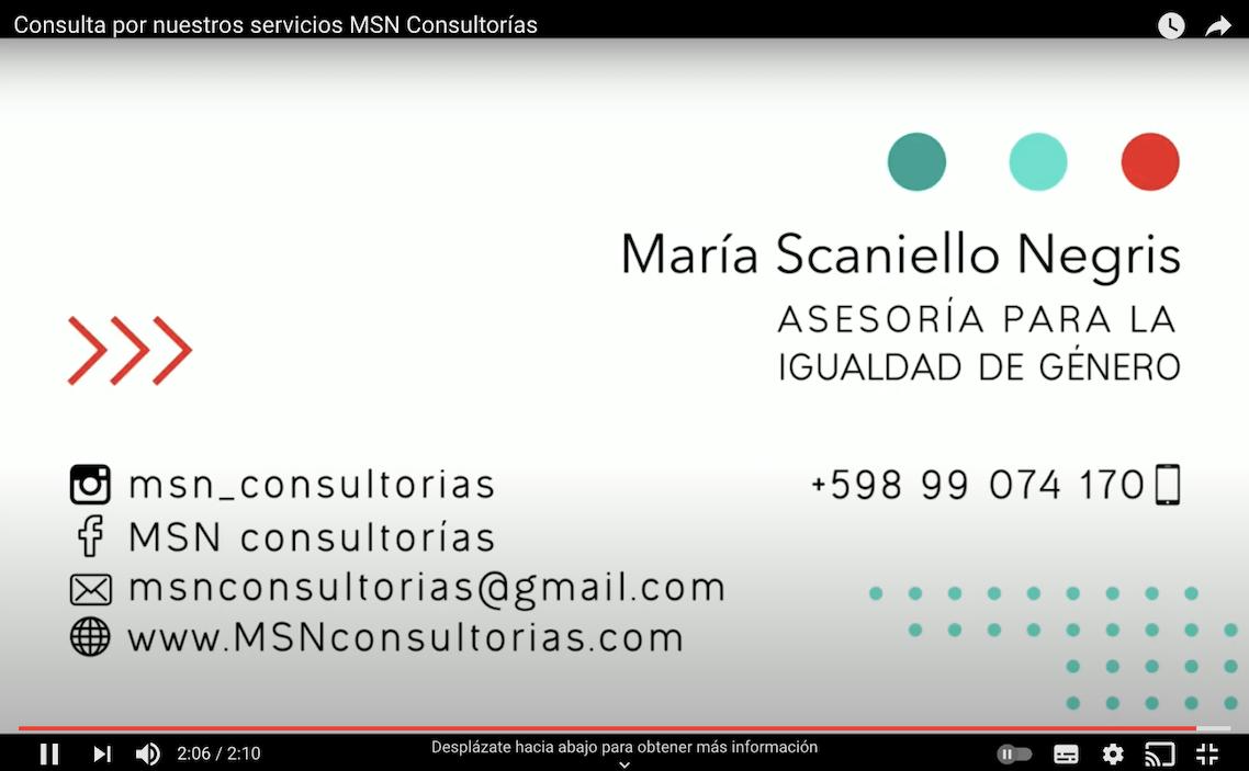 Consultá por nuestros servicios MSN Consultorías