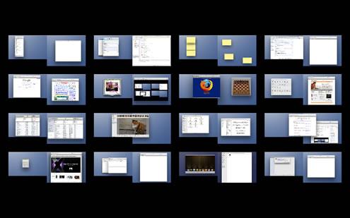 デュアルディスプレイでSpaces32画面分