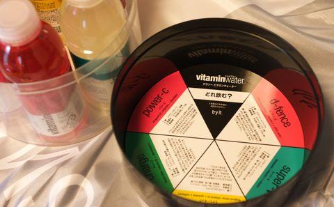 glacéau vitaminwater パッケージのフタの裏