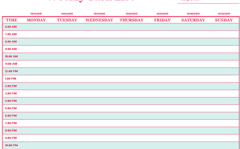 Ms excel templates ms office documents weekly task list template pronofoot35fo Image collections