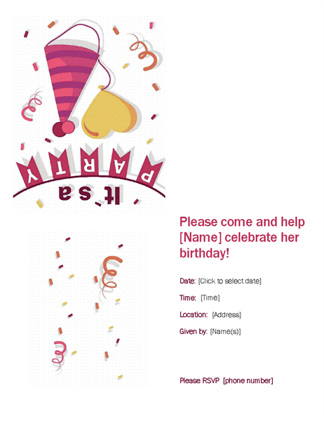 16+ Free 40th Birthday Party Invitation Templates - MS Office Documents