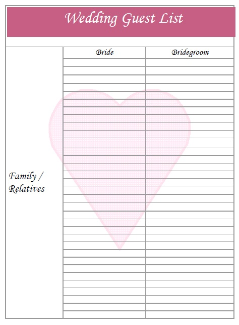 graphic about Free Printable Wedding Guest List referred to as 15+ Cost-free Bridal Shower Visitor Listing Templates - MS Office environment