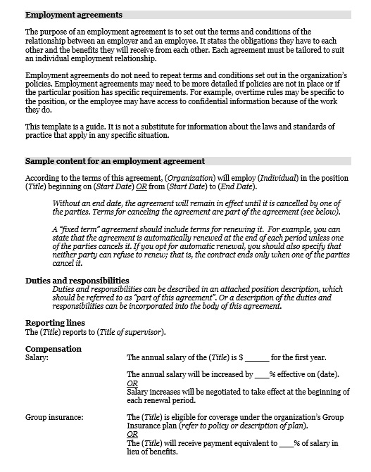 terms of agreement template
