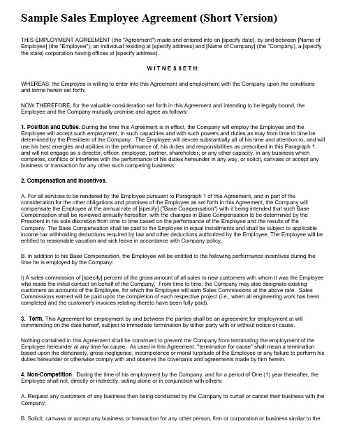 20 Free Employment Agreement Templates General Purpose
