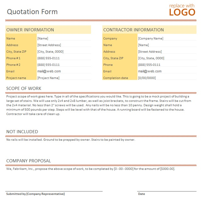 15+ Free Goods Export Quotation Templates - MS Office Documents