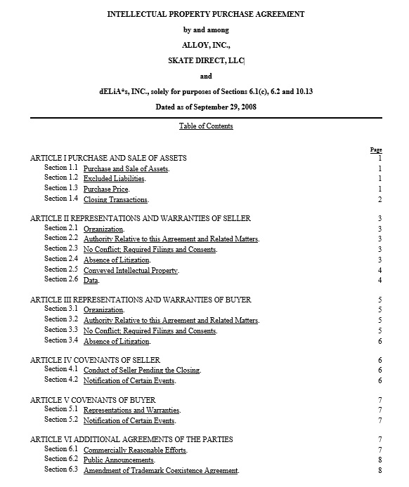 18 Free Intellectual Property Sale Agreement Templates