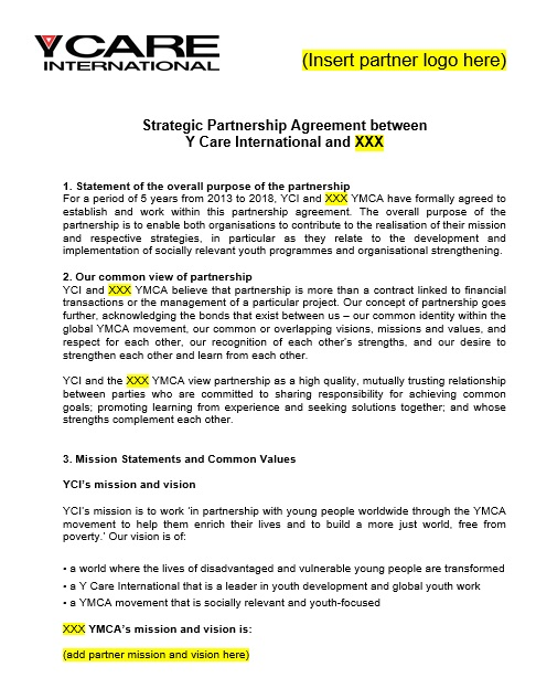 21 Free Partnership Agreement Templates Ms Office Documents