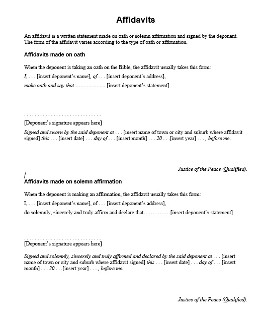 16 free sworn statement templates ms office documents
