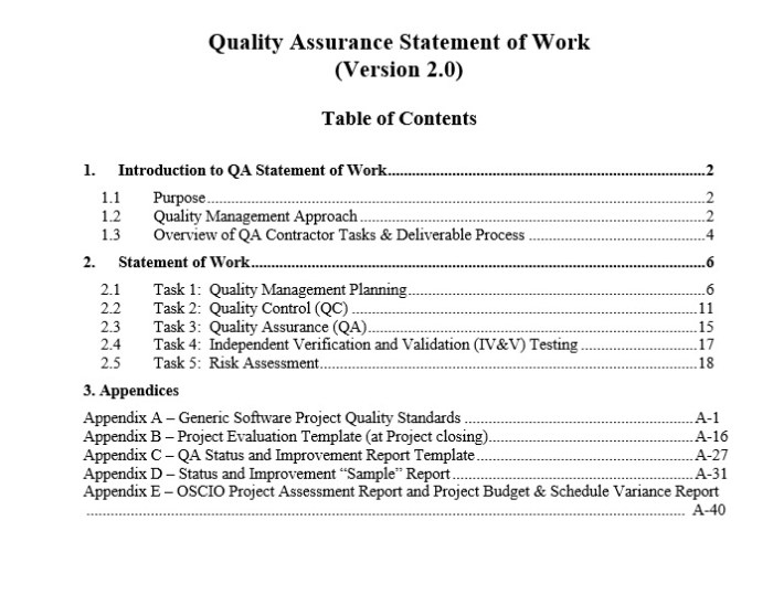 Free Statement Of Work Template  Templates  Ms Office Documents
