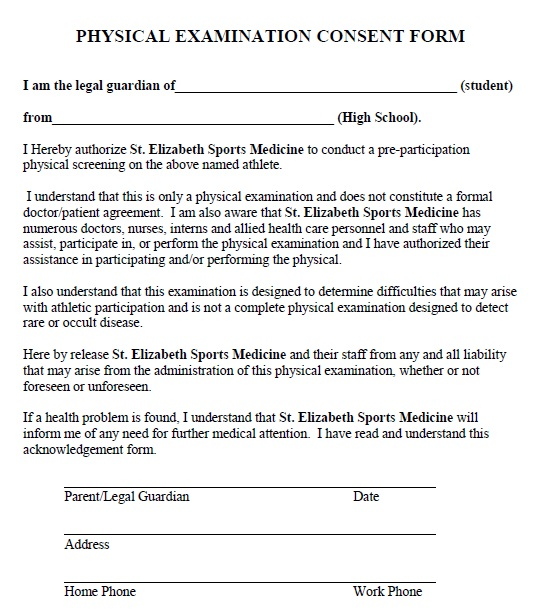 15 free physical exam consent agreement templates share this maxwellsz