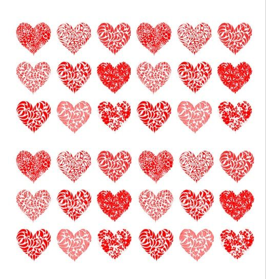 graphic relating to Heart Pattern Printable named 32+ Totally free Printable Centre Templates - MS Place of work Information