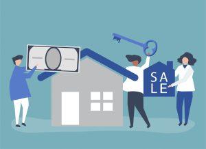 Pessoas a vender a sua casa